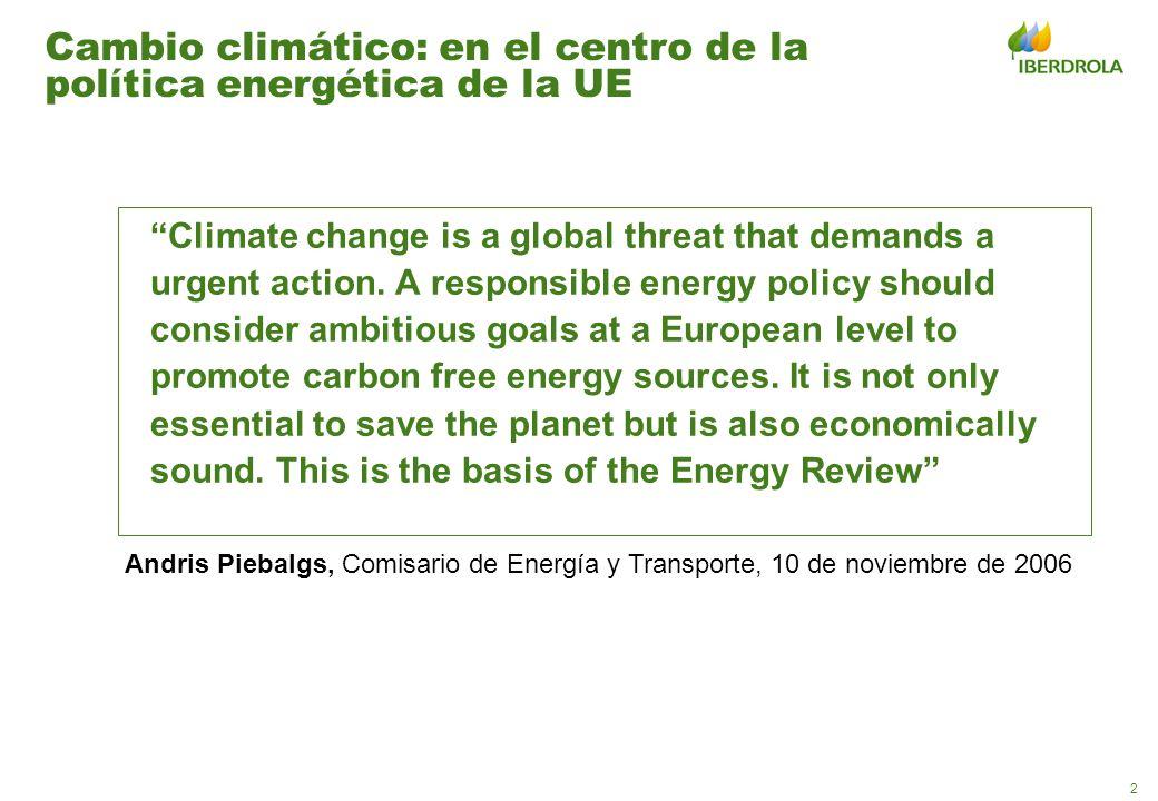 Cambio climático: en el centro de la política energética de la UE