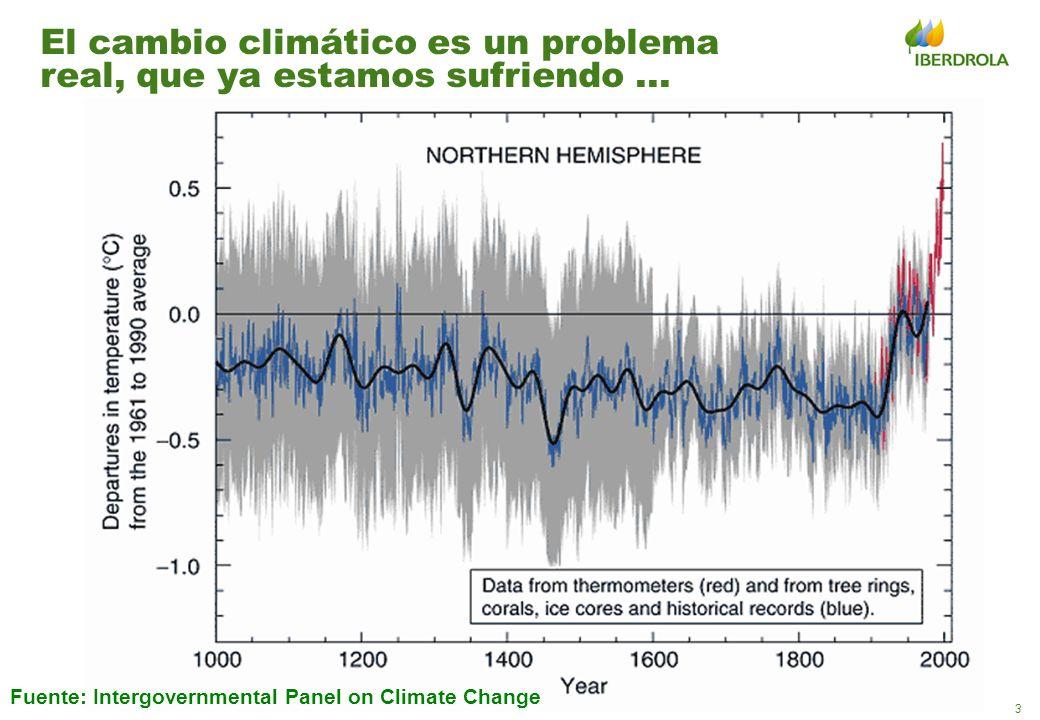 El cambio climático es un problema real, que ya estamos sufriendo ...