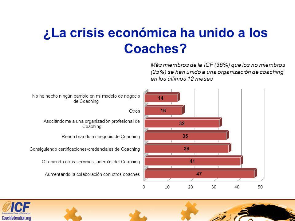 ¿La crisis económica ha unido a los Coaches