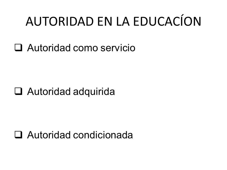 AUTORIDAD EN LA EDUCACÍON