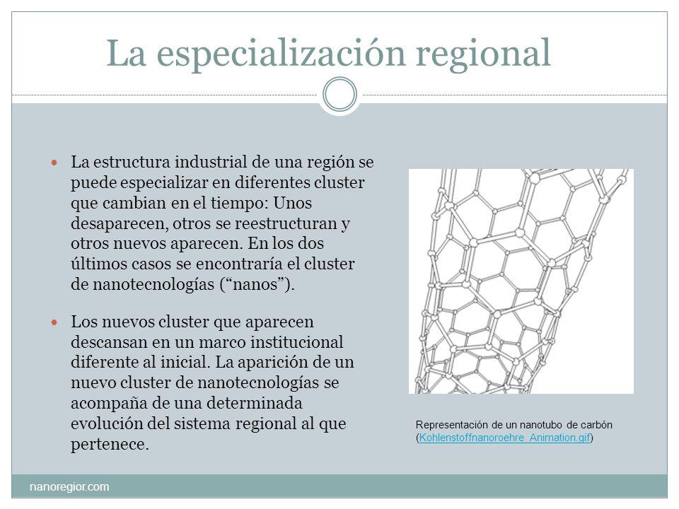 La especialización regional