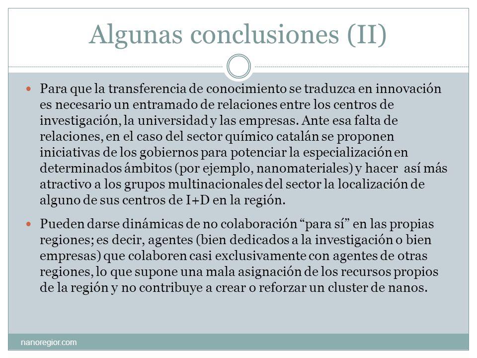 Algunas conclusiones (II)