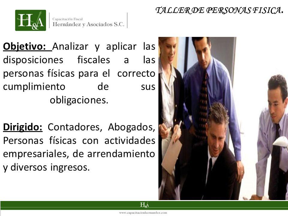 TALLER DE PERSONAS FISICA.