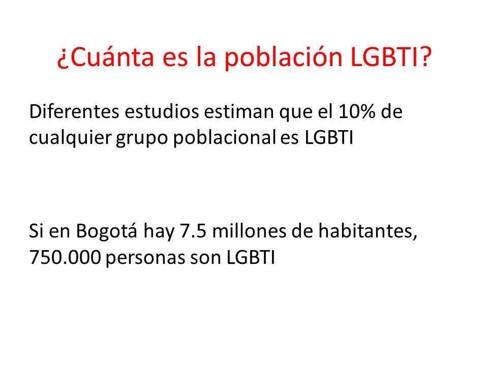 ¿Cuánta es la población LGBTI