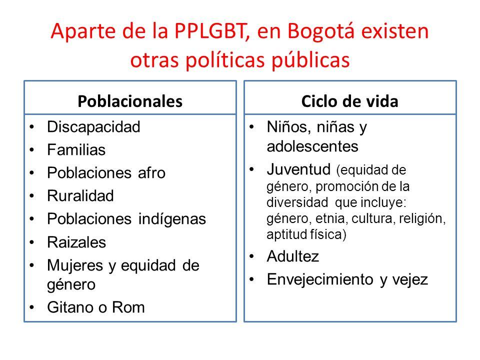 Aparte de la PPLGBT, en Bogotá existen otras políticas públicas