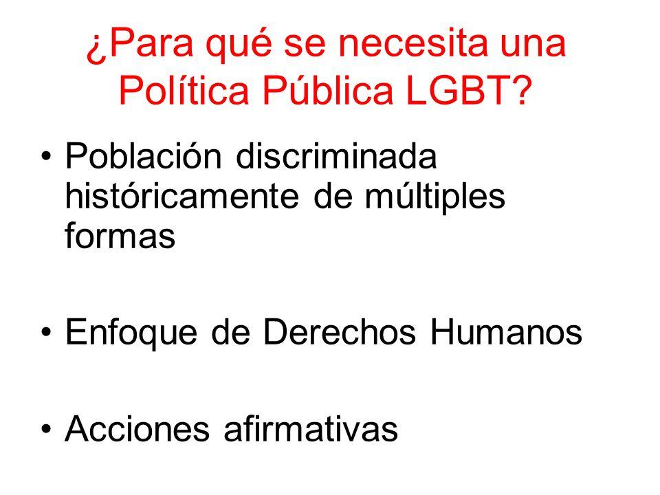 ¿Para qué se necesita una Política Pública LGBT