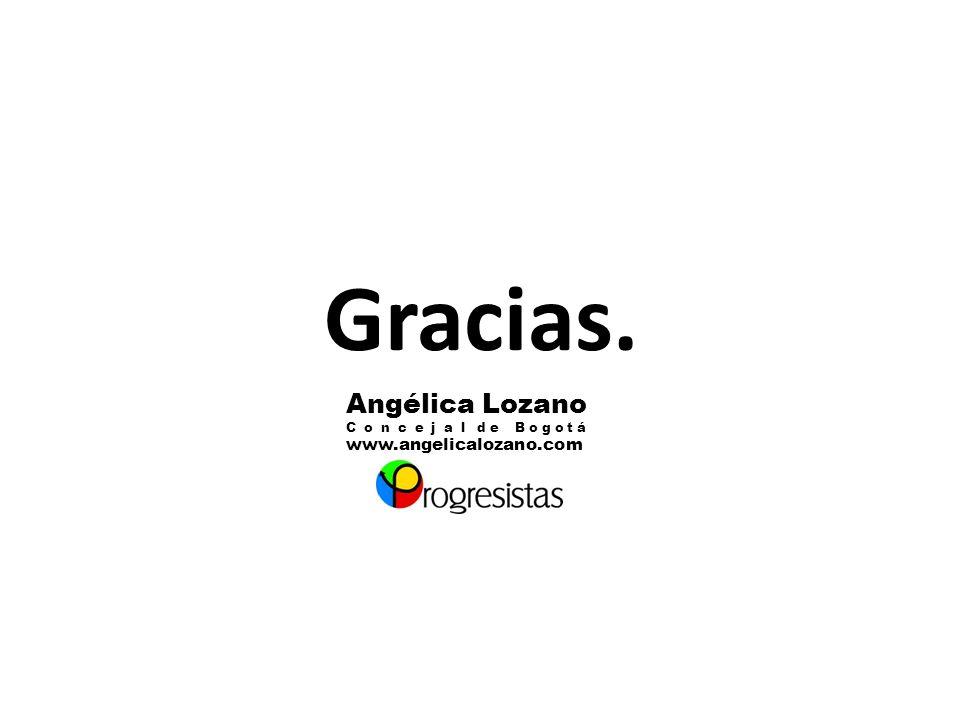 Gracias. Angélica Lozano www.angelicalozano.com