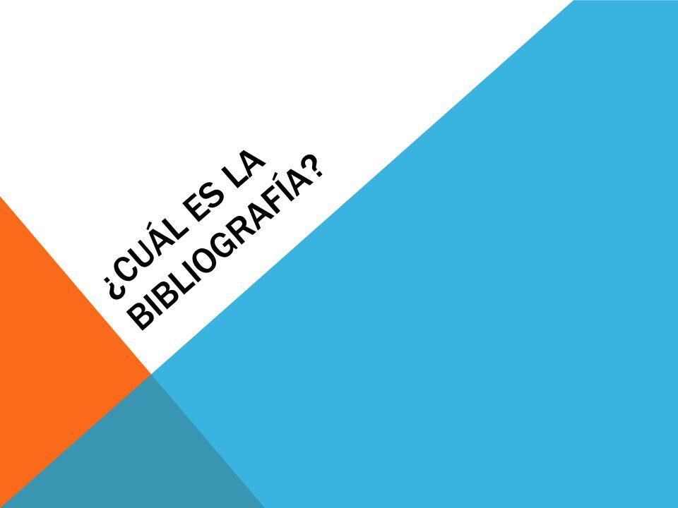 ¿Cuál es la bibliografía