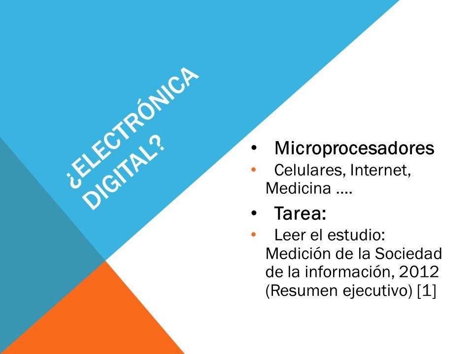 ¿electrónica digital Microprocesadores Tarea: