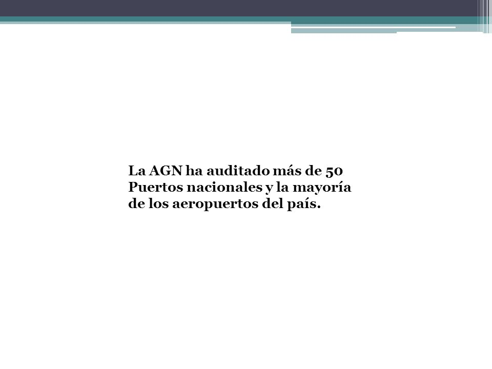 La AGN ha auditado más de 50 Puertos nacionales y la mayoría de los aeropuertos del país.