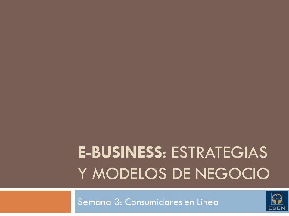 E-BUSINESS: Estrategias y modelos de negocio