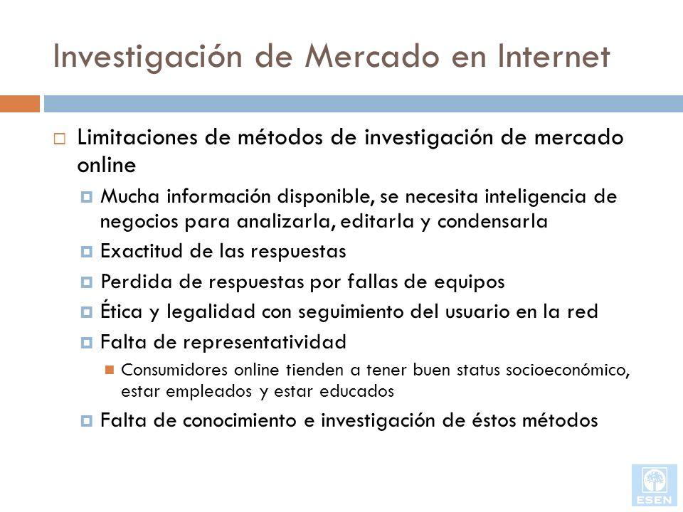 Investigación de Mercado en Internet