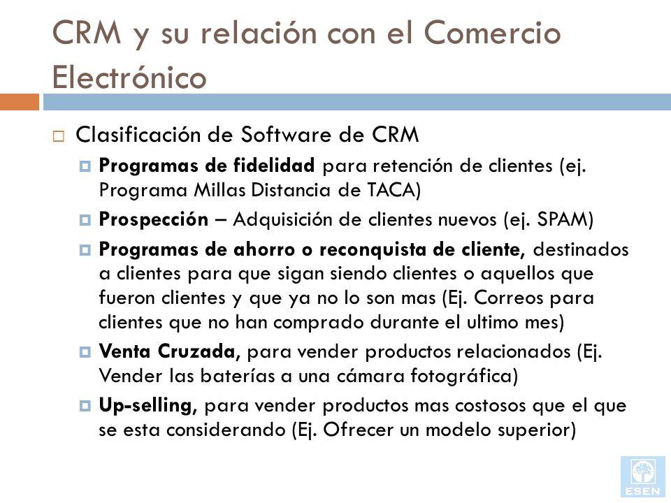CRM y su relación con el Comercio Electrónico
