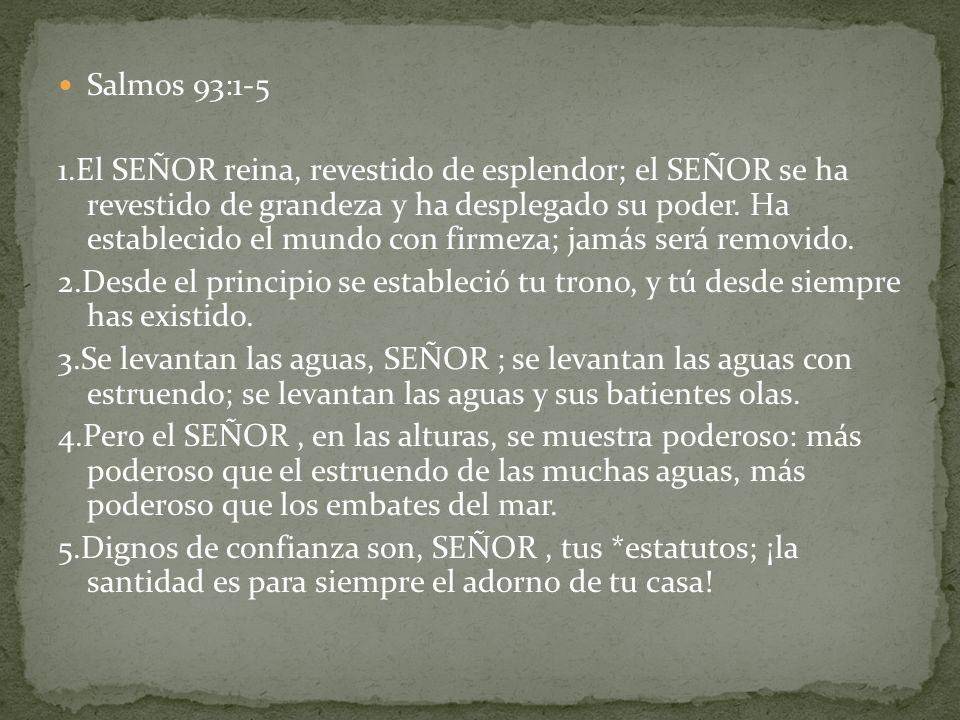Salmos 93:1-5