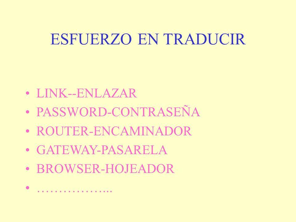 ESFUERZO EN TRADUCIR LINK--ENLAZAR PASSWORD-CONTRASEÑA