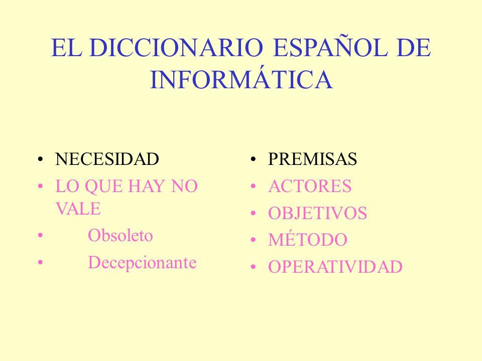 EL DICCIONARIO ESPAÑOL DE INFORMÁTICA