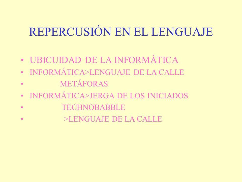 REPERCUSIÓN EN EL LENGUAJE