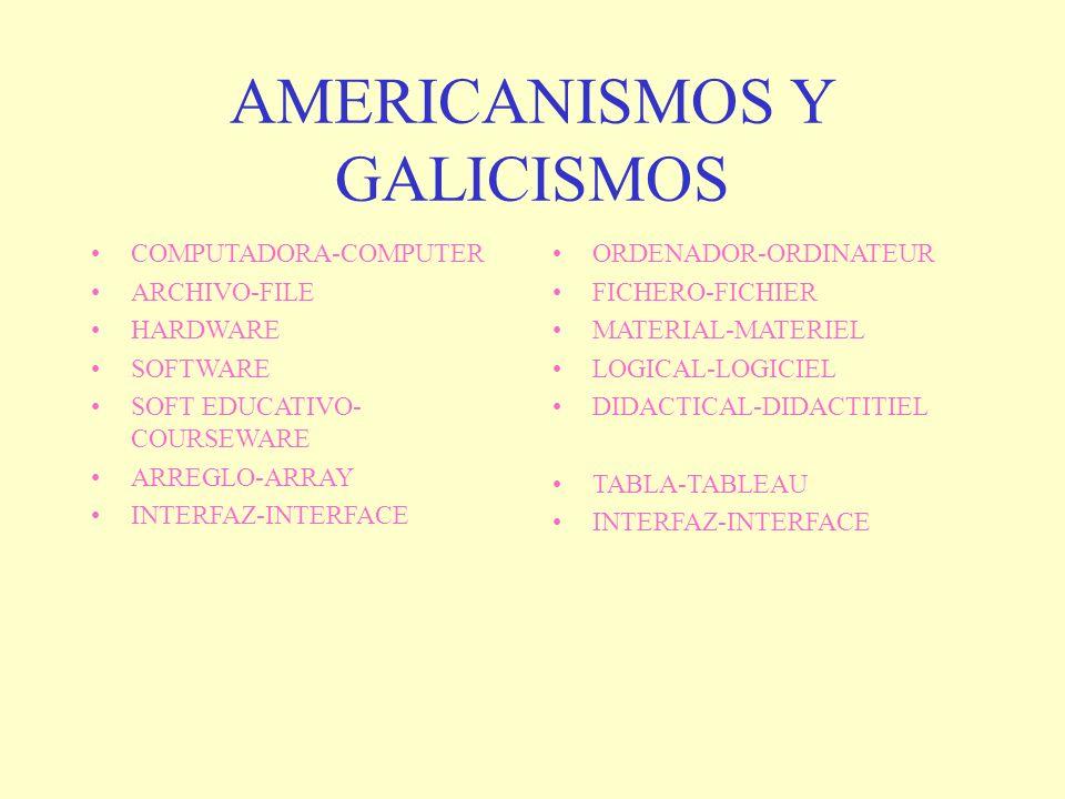 AMERICANISMOS Y GALICISMOS