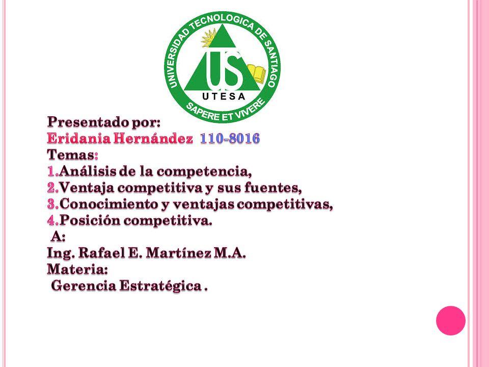 Presentado por: Eridania Hernández 110-8016 Temas: 1