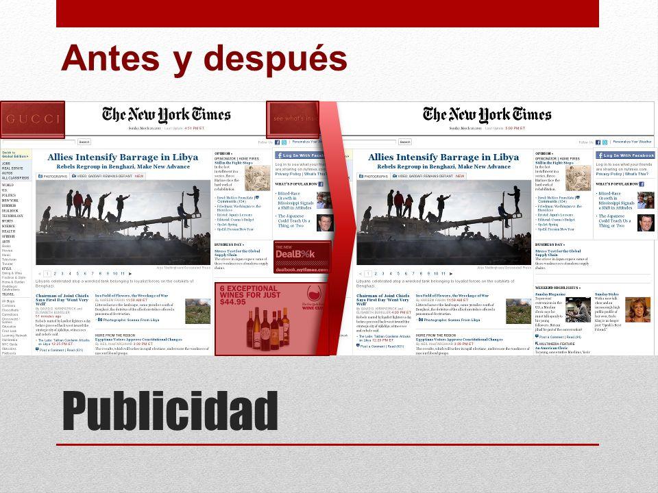 Antes y después Publicidad
