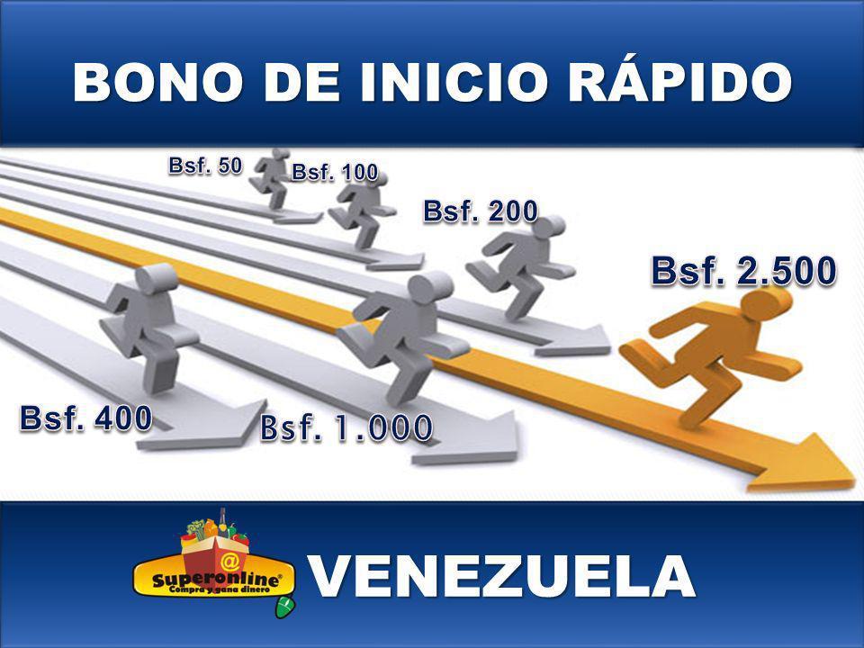 VENEZUELA BONO DE INICIO RÁPIDO Bsf. 2.500 Bsf. 400 Bsf. 1.000