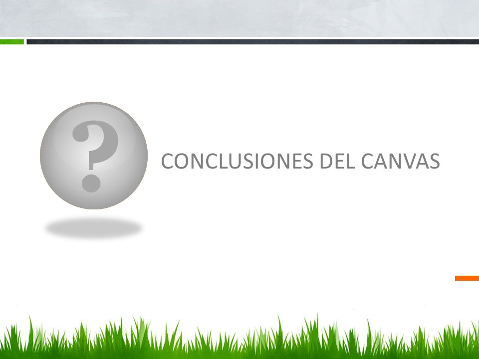 CONCLUSIONES DEL CANVAS