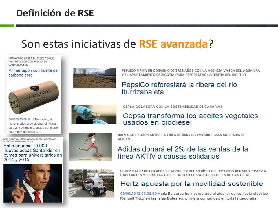 Son estas iniciativas de RSE avanzada