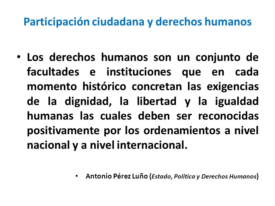 Participación ciudadana y derechos humanos