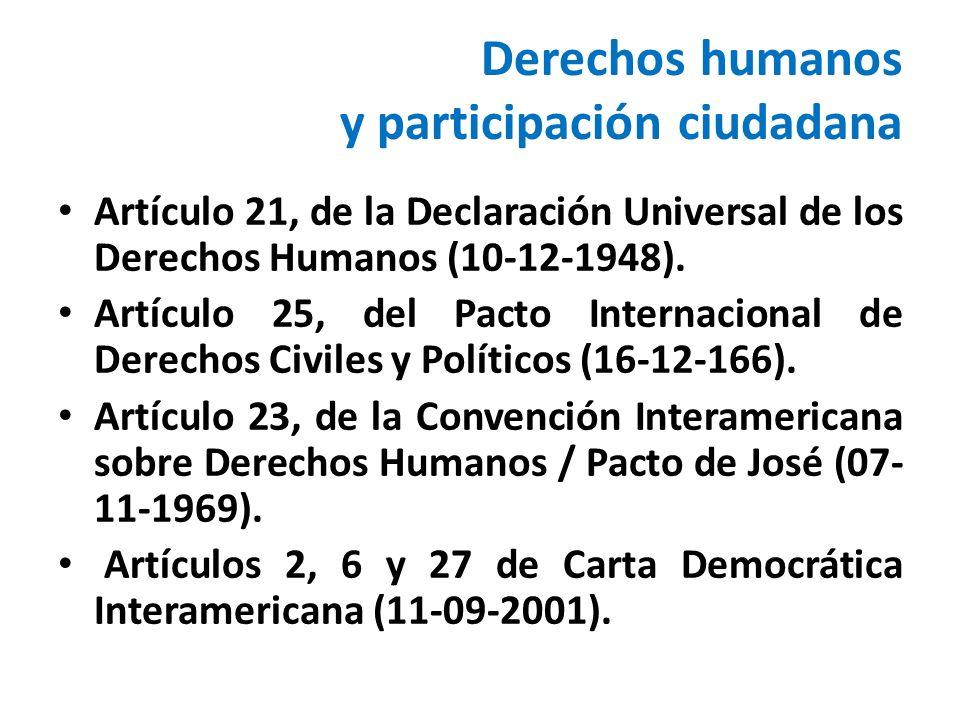 Derechos humanos y participación ciudadana