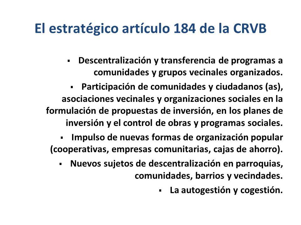 El estratégico artículo 184 de la CRVB