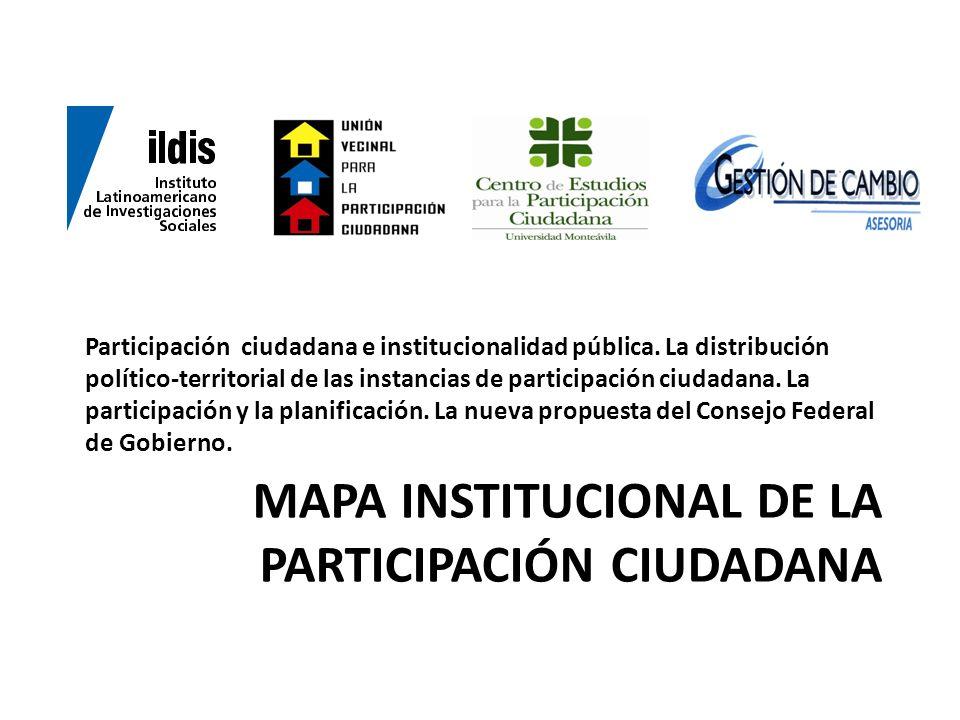 Mapa institucional de la participación ciudadana