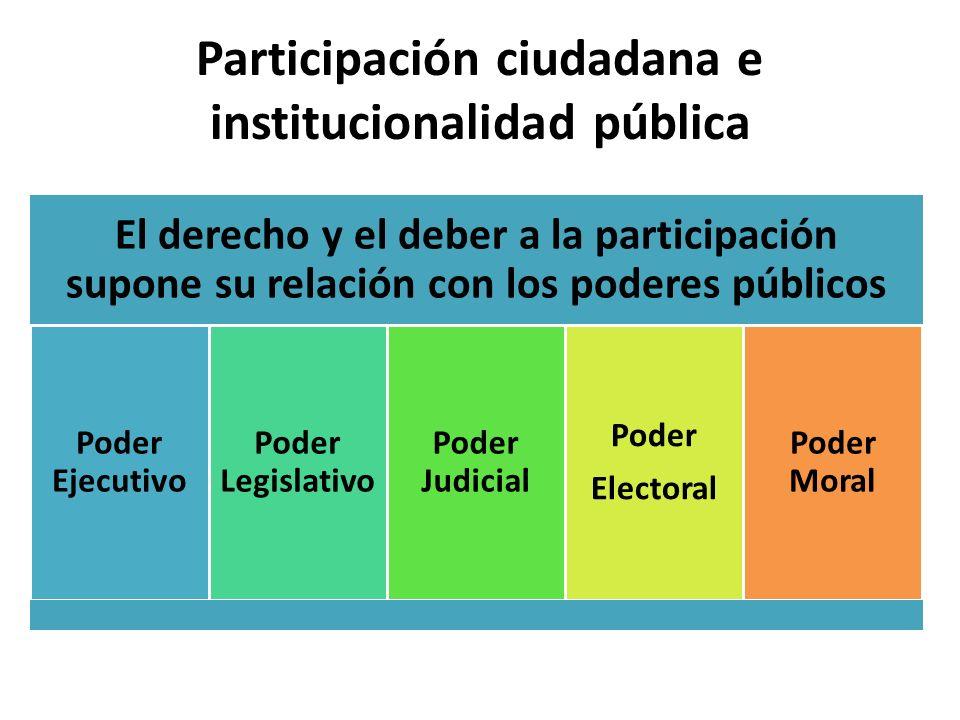Participación ciudadana e institucionalidad pública