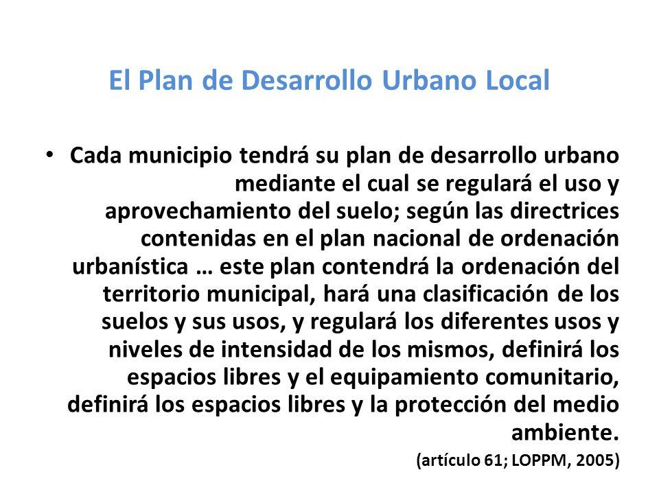 El Plan de Desarrollo Urbano Local