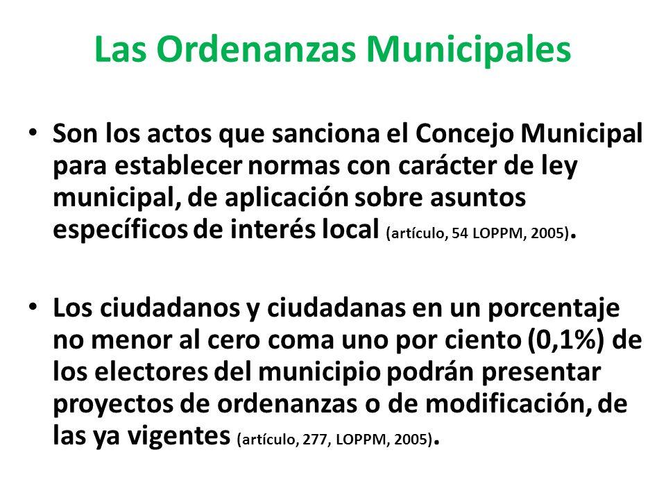 Las Ordenanzas Municipales
