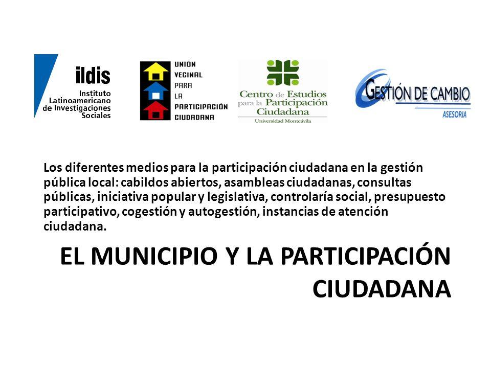 el municipio y la participación ciudadana