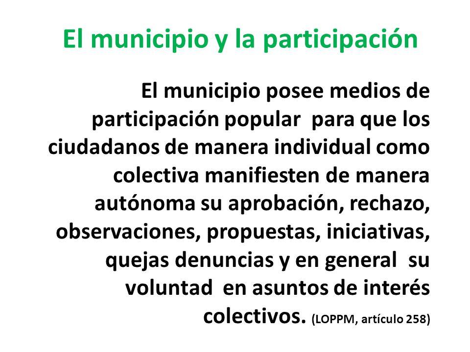 El municipio y la participación