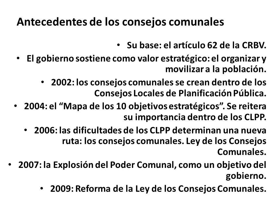 Antecedentes de los consejos comunales