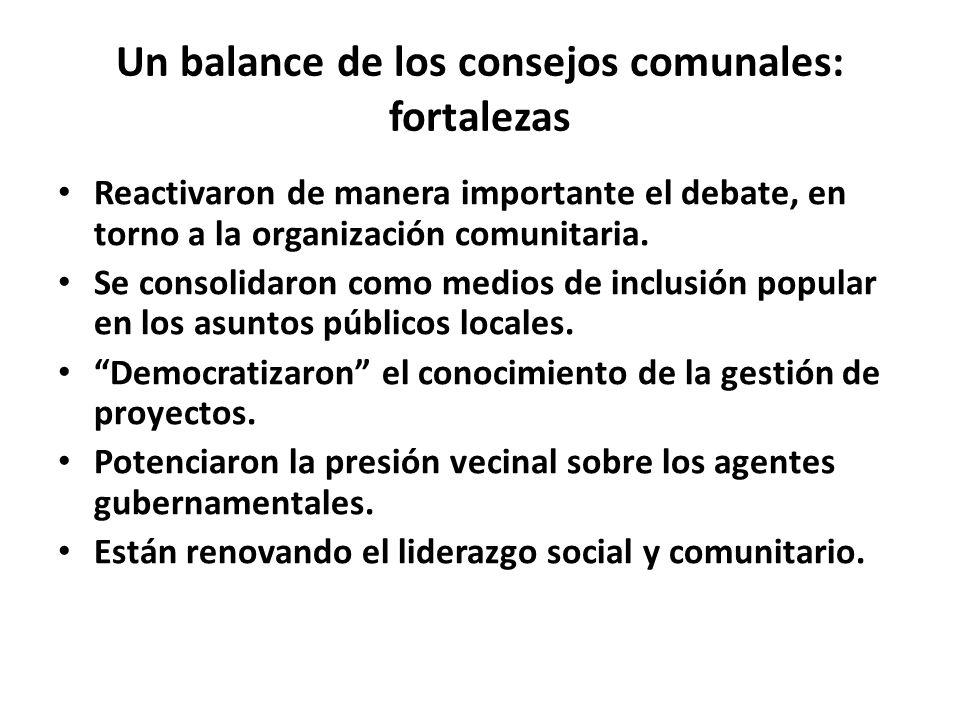 Un balance de los consejos comunales: fortalezas