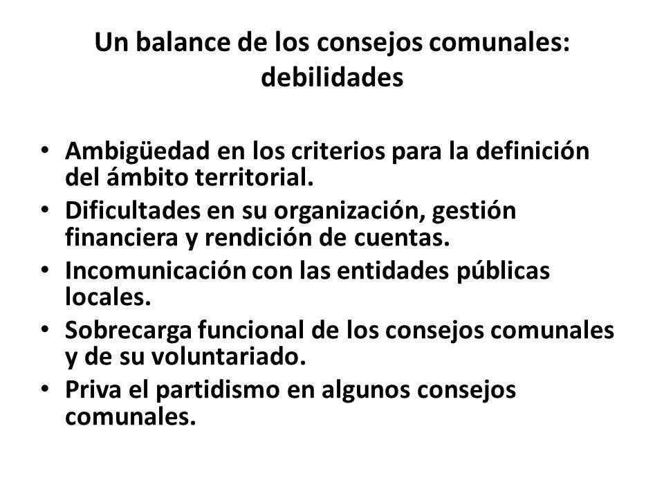 Un balance de los consejos comunales: