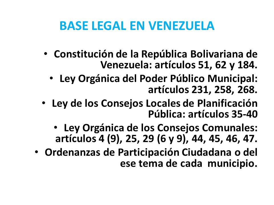 BASE LEGAL EN VENEZUELA