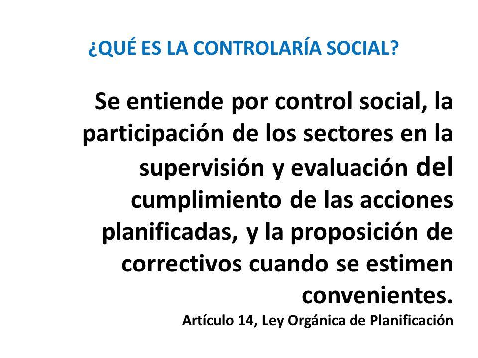 ¿QUÉ ES LA CONTROLARÍA SOCIAL