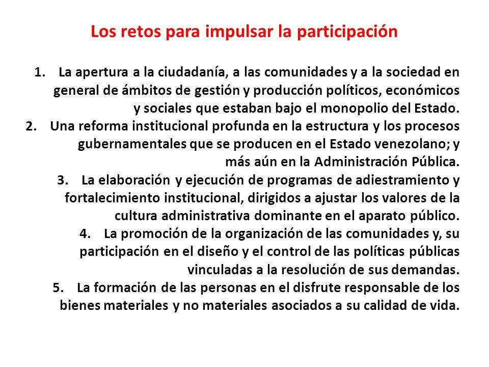 Los retos para impulsar la participación