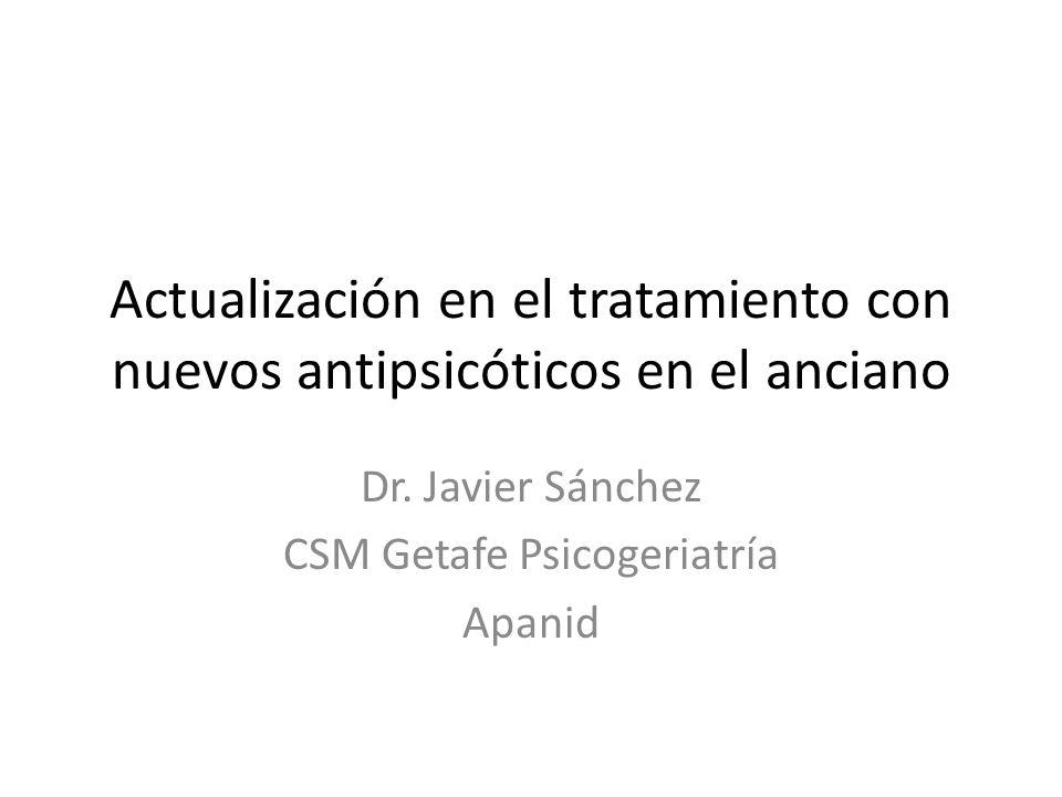 Dr. Javier Sánchez CSM Getafe Psicogeriatría Apanid