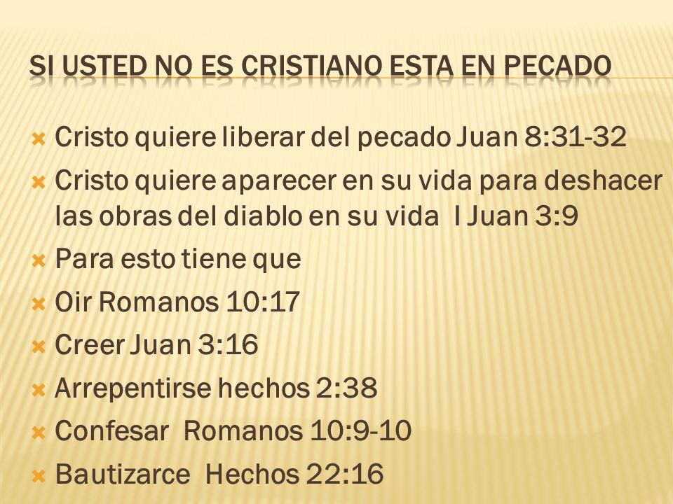 Si usted no es cristiano esta en pecado