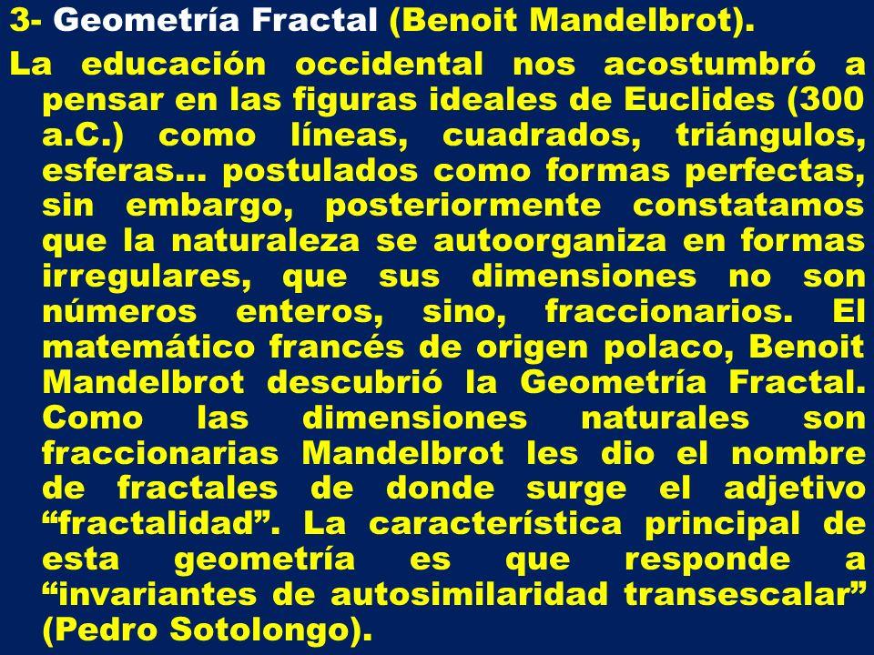 3- Geometría Fractal (Benoit Mandelbrot)