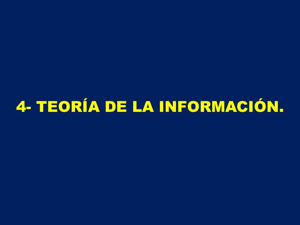 4- TEORÍA DE LA INFORMACIÓN.