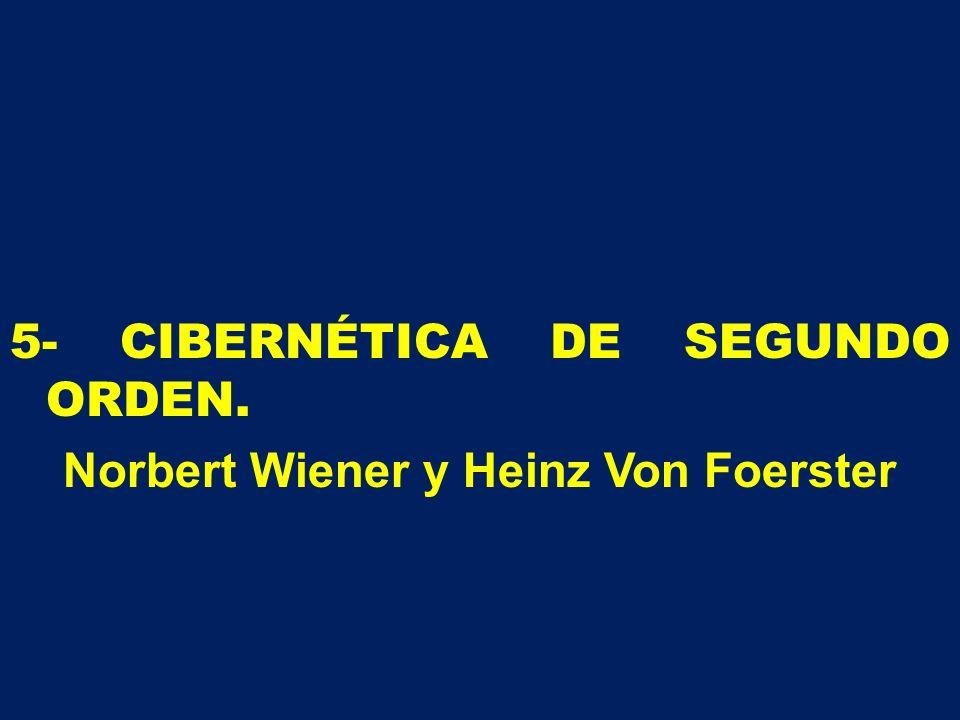 5- CIBERNÉTICA DE SEGUNDO ORDEN. Norbert Wiener y Heinz Von Foerster
