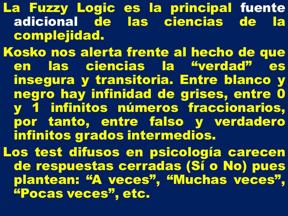 La Fuzzy Logic es la principal fuente adicional de las ciencias de la complejidad.
