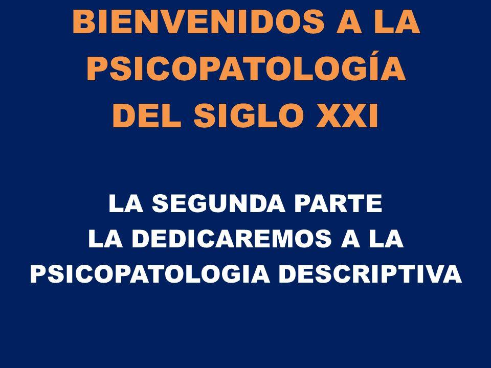 PSICOPATOLOGIA DESCRIPTIVA