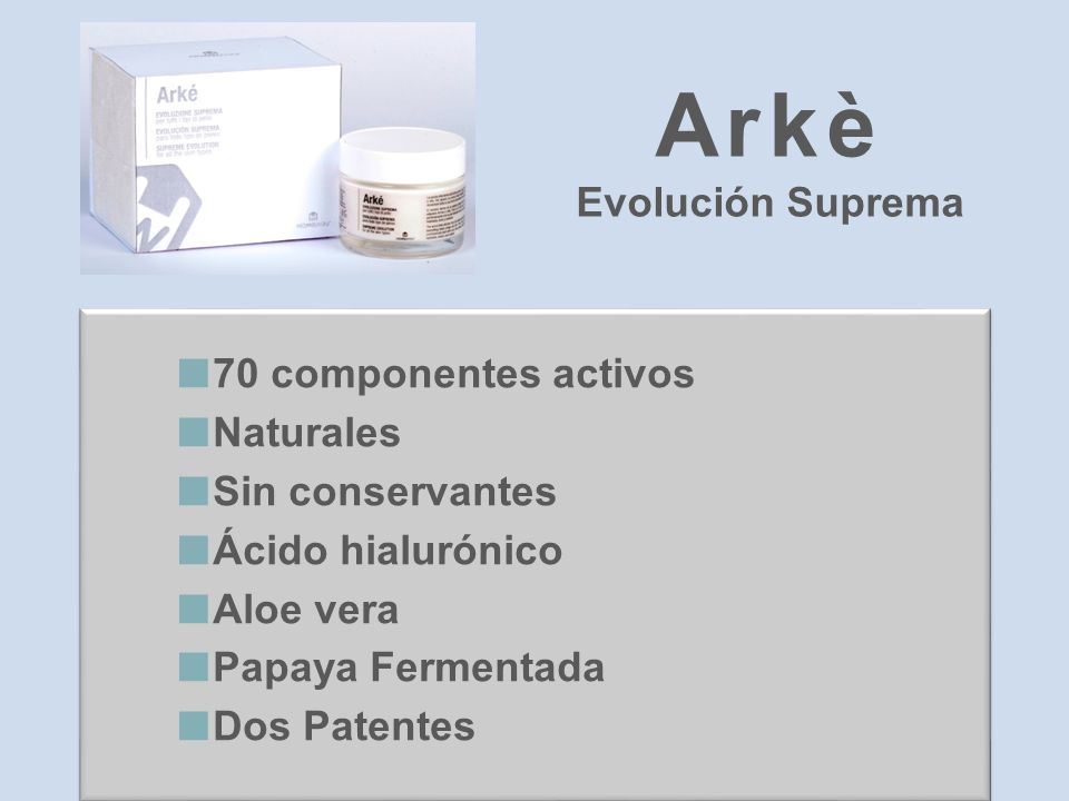 Arkè Evolución Suprema 70 componentes activos Naturales